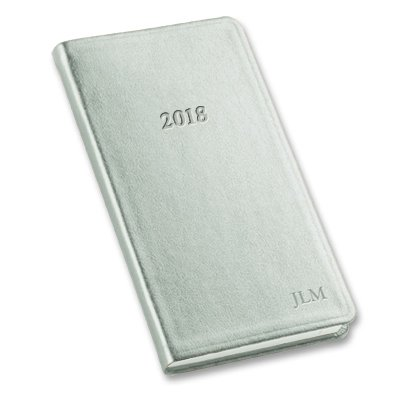 Pocket Date Book - 2018 Pocket Weekly Planner Metallic Silver 6
