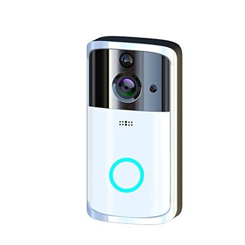 (HankuM7 1080P Smart WiFi Security Doorbell Wireless Video Phone Camera Night Vision (Silver))