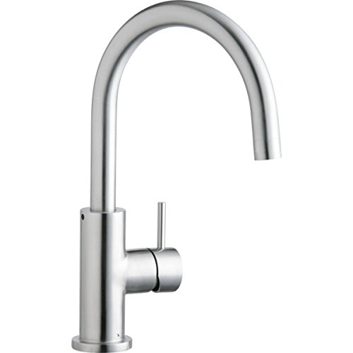Elkay LK7921SSS Allure Single Hole Kitchen Faucet with Lever Handle, Satin Stainless Steel