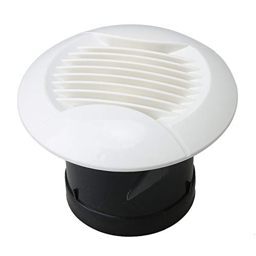BQLZR White Louvered Grille Cover Vent Hood Wall Air Vents with Fly Screen New Straight Leaf Mesh ABS Ventilation - Wall Grille Leaf