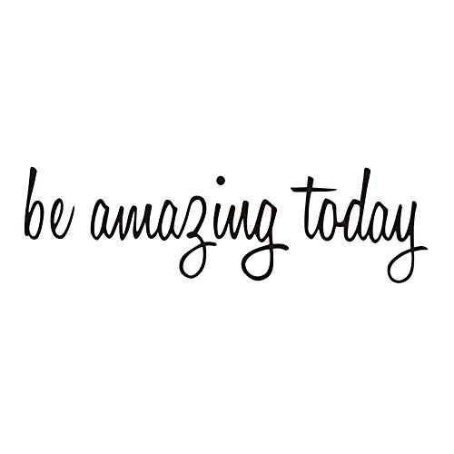 Be Amazing Today Quote Mirror Decal Quotes Vinyl Wall Decals Walls Stickers Home Decor (Be Amazing Today)