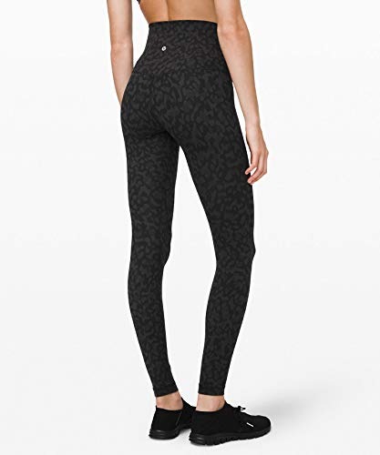 Lululemon Align Stretchy Full Length Yoga Pants - Women's Workout Leggings, High-Waisted Design, Breathable, Sculpted Fit, 28 Inch Inseam, Formation Camo Deep Coal Multi, Size 4