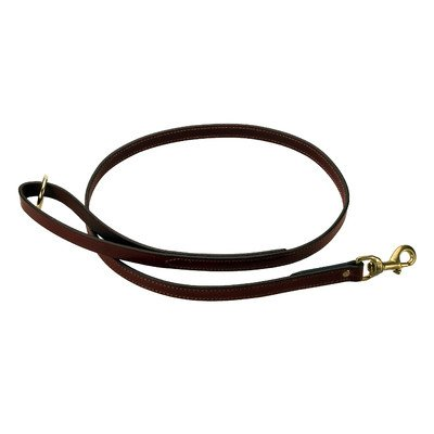 Mendota Products Leather Dog Snap Leash, Chestnut, 3/4-Inch x 6-Feet, My Pet Supplies