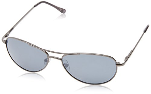 Anarchy Men's Fugitive Polarized Aviator Sunglasses,Gun,58 - Sunglasses His Hers And