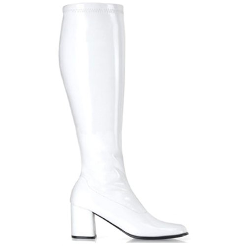 Ellie Shoes Women's Gogo Rain Boot, White, 10 M (White Go Go Boots)