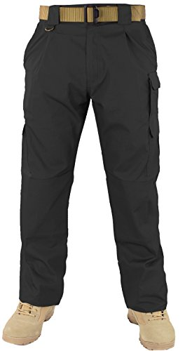 First Class Tactical Training Men's Trousers (36W/32L, Black) Black Cargo Trousers