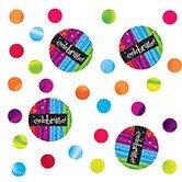 Club Pack of 12 Multi-Colored Milestone Celebrations ''Celebrate!'' Party Confetti Bags 0.5 oz.