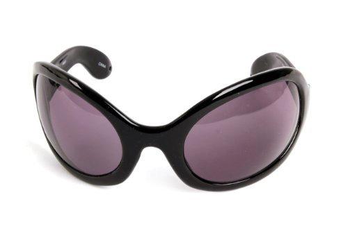 Pop Fashionwear Unisex Color Bug Eye Sunglasses Retro Rave Shades P501 (Black, BlackSmoke)]()