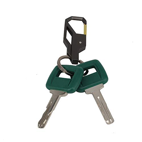 HKOO Laser Cut Heavy Equipment Ignition Key 11039228 for Volvo Articulated Hauler Models A25D A35C A35D A40 A40D,2 Keys with Exquisite Keychain - Exquisite Key Ring