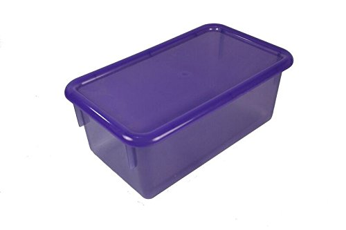 Romanoff Products ROF-12026 Stowaway Transparent Tote Grape, Grade: kindergarten to 6, 8.15'' Height, 5.8'' Wide, 13.9'' Length