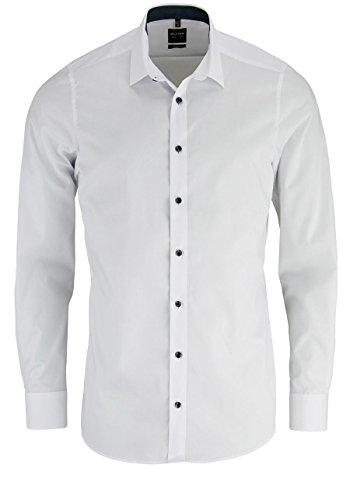 OLYMP Level 5 Body Fit Hemd Langarm weiß