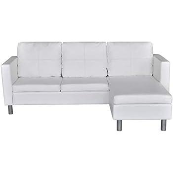 Amazon.com: SaiDeKe Home Family - Sofá de 3 plazas (piel ...
