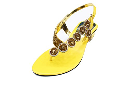 Para Mujer De Amarillo Walk Wear Sandalias amp; Uk Vestir RffYqw0
