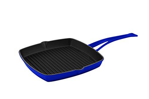 "Lava LVKGT2626K0BLU Signature Cast-Iron Gill Pan, 10"", Cobalt Blue"