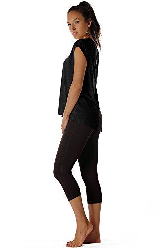 Apri Sportivo Donna Icyzone Indietro Magliette pale De Black Blush zwSxA7qx