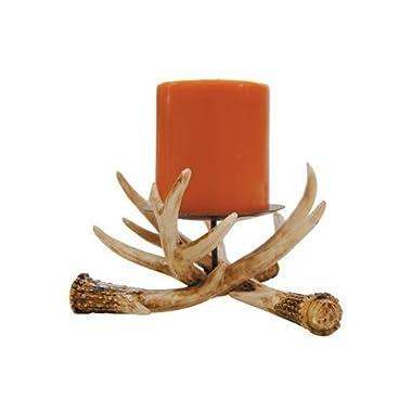 Antler Pillar Candle Holder 6-inch