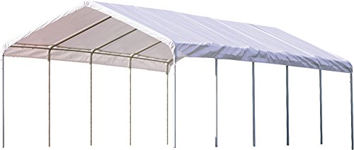 ShelterLogic SuperMax Heavy Duty Steel Frame Quick and Easy Set-Up Canopy 12' x - Carport Boat Shelter