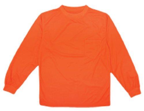 ML Kishigo 9123 Polyester Microfiber Long Sleeve T-Shirt, Medium, Orange