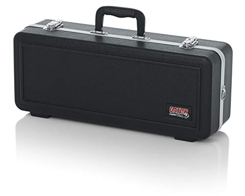Gator Cases Lightweight Molded Trumpet Case with Locking Latch and Plush Lined Interior; Stackable (GC-TRUMPET)