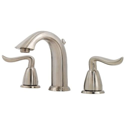 """well-wreapped Pfister Santiago 2-Handle 8"""" Widespread Bathroom Faucet, Brushed Nickel"""