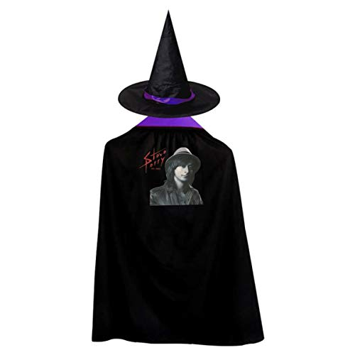 Girls Steve Perry Adorable Music Band Halloween Wizard Hat And Cape Cloak Purple M Gift
