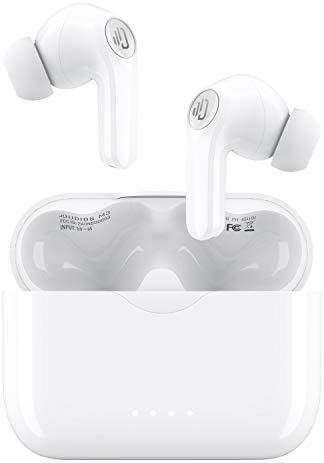 Wireless Earbuds, Bluetooth 5.0 Earbuds Built-in Mic, USB-C Quick Charge/IPX7 Waterproof/10mm Driver/Noise Cancelling/25Hrs Playtime/Deep Bass, Wireless Headphones for Sports Gym Office