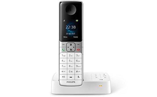 Philips D6351W/38 schnurloses Telefon mit Anrufbeantworter (4,6 cm (1,8 Zoll) Display, HQ Sound, Privatsphären-Modi) weiß
