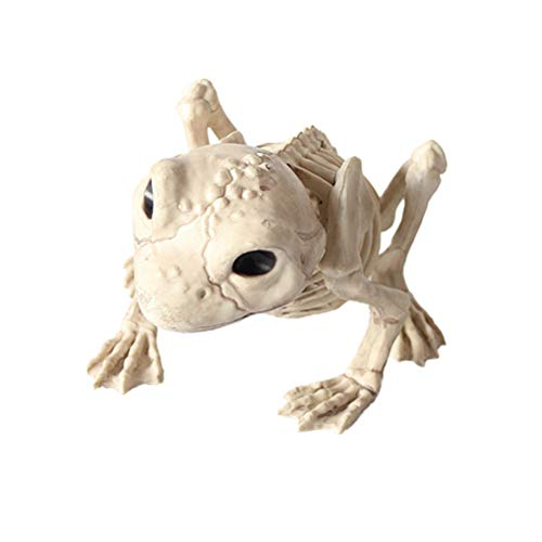 LUOEM Halloween Animal Scary Skeleton Props Happy Halloween Spooky Skull Animal Skeleton Frame -