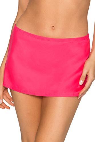 - Sunsets Women's Kokomo Swim Skirt Mid Rise Bikini Bottom Swimsuit, Hot Pink, Small