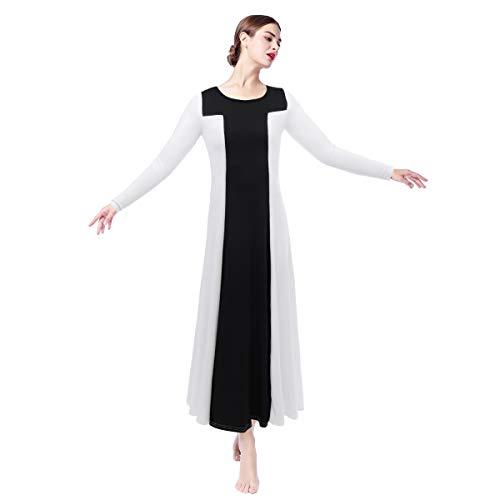US Women Ballroom Tango Waltz Ballet Dance Dress Liturgical Praise Gown Costume