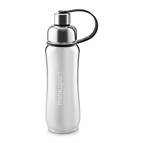 Thinksport Stainless Steel Sports Bottle, Silver, 17 oz - Better Stainless Bottle