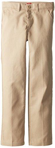 Dickies Big Girls' Slim Stretch Flat Front Pant, Desert Sand, 10 -