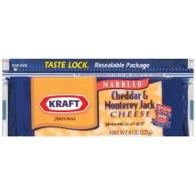 Kraft Natural Cheddar and Monterey Jack Chunk Cheese, 8 Ounce -- 12 per case.