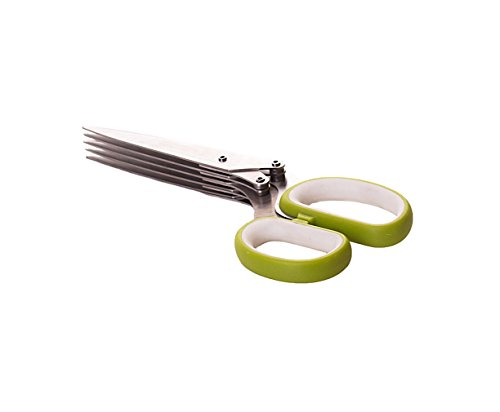 Select Culinary 5-Blade Herb Scissors Cutter-Stainless Steel Multi Blade Shears 3 The herb scissors five sharp blades are manufactured using the finest quality stainless steel User friendly, easy to use herb shears are way easier Total time saver-chop a variety of herbs such as scallions, chives, parsley and thyme