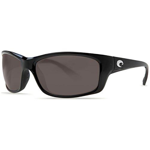 Costa Del Mar Jose Black Sunglasses - 580P Gray Lens w/Free Black Mesh Hat
