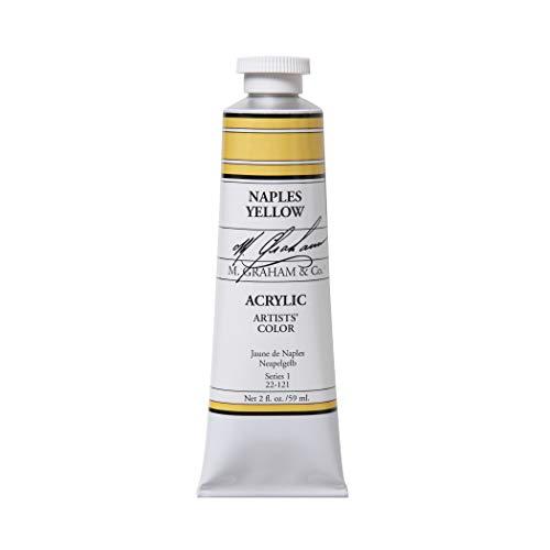M. Graham 2-Ounce Tube Acrylic Paint, Naples Yellow Hue