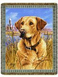 Yellow Lab Tapestry Throw - 5