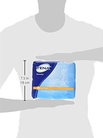 Amazon.com: Tena Serenity Pantiliners, Light Absorbancy Long 44 Ct (Pack of 2): Health & Personal Care