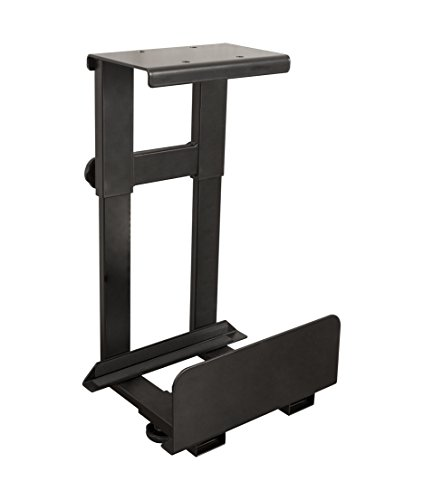 Adjustable Cpu Holder (Stand Up Desk Store Adjustable CPU Holder | Under Desk Computer Mount - Tucks Bulky CPUs Under Your Standing Desk to Free Up Valuable Workspace)