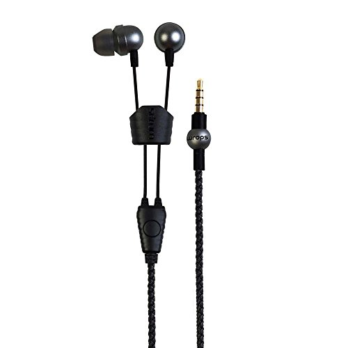 Wraps Core In-Ear Earphones with Microphone Space Grey WRCOSG-V16M - Wrap Space