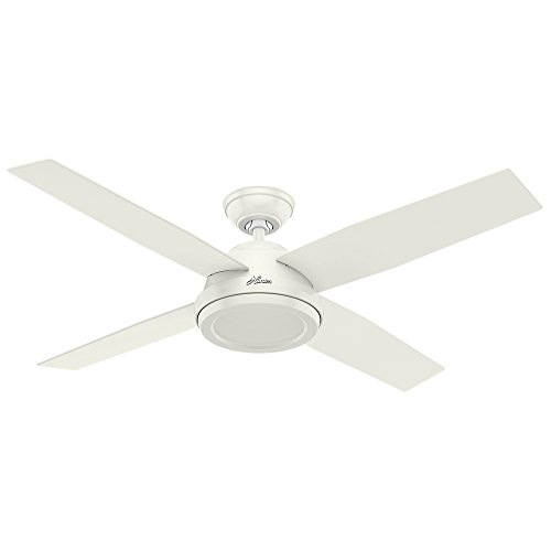 Hunter Fan Company 59250 Dempsey Indoor Ceiling Fan with Remote Control, 52″, White