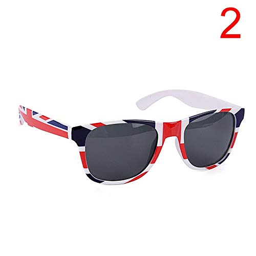 Hawaiian Party Decor - 1pcs Novelty Fancy America Us British England Flag Sunglasses Costume Party Glasses - Unicorn Amrmaid Guard Party Cinderella Girl Gril Supplies Birthday Monster Superhero ()