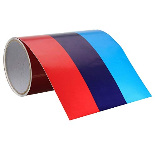 AutoE 3 Meters M-Colored Stripe Car Hood Roof Sticker Vinyl Decal For BMW M M3 M5 M6 3/5/7 Series