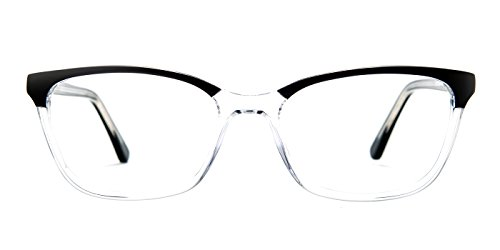TIJN Acetate Cateye to Wayfarer Translucent Eyeglasses for Mens - Optical Bags Frame Sample