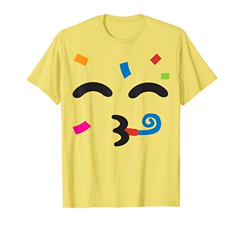 Party Partying Face Emoji Easy Lazy Group Halloween Costume T-Shirt