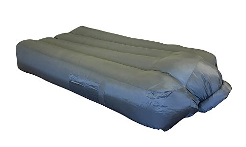 Aero Inflatable Instant Air Mattress with Compression Carry Bag, Gray - Perfect for Camping, Concerts, Dorms, Sleepovers - by