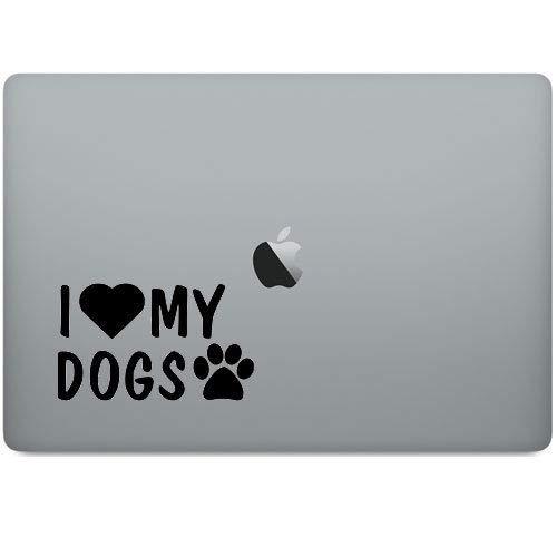 I Love My Dogs Decal for Car Truck Bumper Window Door Wall Decor Art.jpg ()
