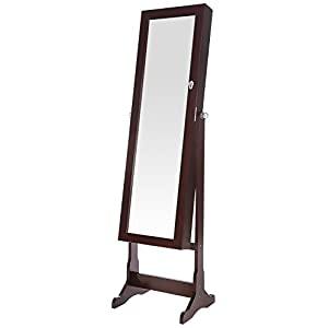 Ratings and reviews for SONGMICS 6 LEDs Jewelry Cabinet Lockable Standing Jewelry Armoire Organizer
