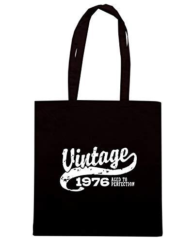 Speed Shirt Borsa Shopper Nera OLDENG00710 VINTAGE 1976