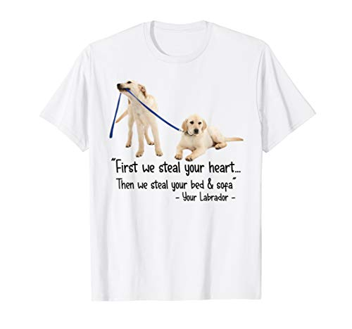 Then We Steal Your Bed & Sofa Your Labrador Retriever Tshirt
